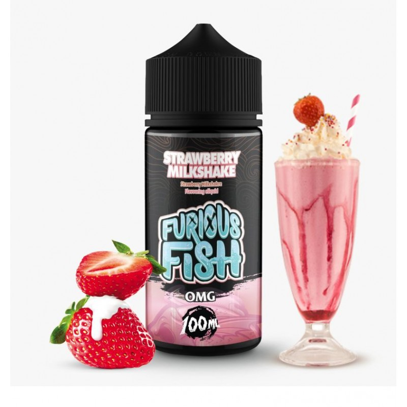 Furious Fish - Strawberry Milkshake - 100ml